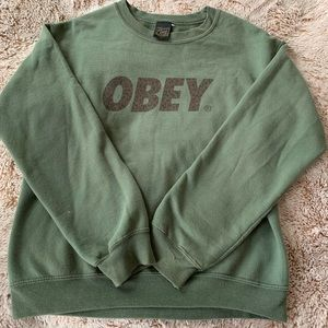 OBEY Navy green sweatshirt